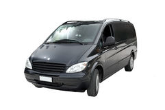 Geïsoleerdet Minivan, Royalty-vrije Stock Afbeelding