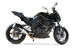 Geïsoleerdet motorfiets stock foto's