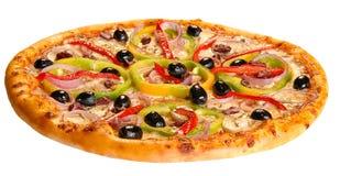 Geïsoleerdet pizza Stock Foto's