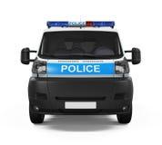 Geïsoleerdet politiewagen Stock Foto's