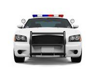 Geïsoleerdet politiewagen Stock Afbeeldingen