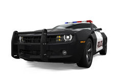 Geïsoleerdet politiewagen royalty-vrije stock afbeelding