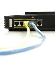 Geïsoleerdet schakelaar/Router Royalty-vrije Stock Foto's