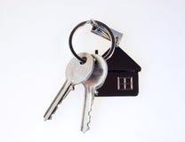 Geïsoleerdet sleutels Stock Foto