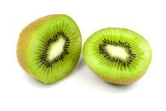 Geïsoleerdet stukken van kiwi Stock Foto