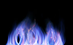 Geïsoleerdet vlammen royalty-vrije stock fotografie