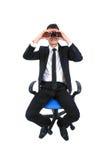 Geïsoleerdeu bedrijfsmens Stock Afbeeldingen