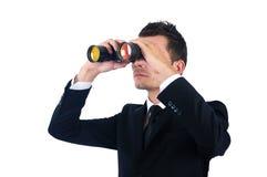 Geïsoleerdeu bedrijfsmens Stock Fotografie