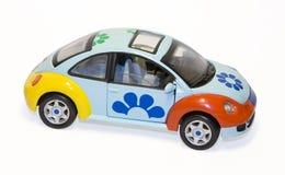 Geïsoleerdeu de auto van het stuk speelgoed Stock Fotografie