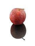 Geïsoleerdeu de bezinning van de appel Royalty-vrije Stock Afbeeldingen