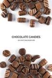 Geïsoleerdeu de snoepjes van de chocolade Royalty-vrije Stock Fotografie
