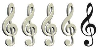 Geïsoleerdeu muzieknoot - vector illustratie