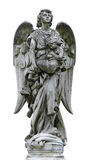 Geïsoleerdeu rijpe marmeren engel Stock Fotografie