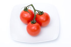 Geïsoleerdeu tomaten stock foto's