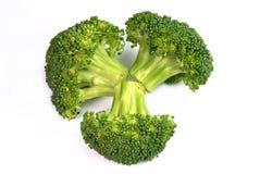 Geïsoleerdeu verse broccoli Stock Foto's