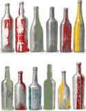 Geïsoleerdev fles. stock illustratie