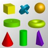 Geïsoleerdev geometrische voorwerpen Royalty-vrije Stock Fotografie