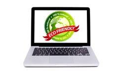 Geïsoleerdev moderne laptop Royalty-vrije Stock Foto's