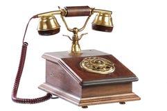 GeïsoleerdeV ouderwetse telefoon royalty-vrije stock afbeelding