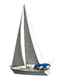 Geïsoleerdev Zeilboot Royalty-vrije Stock Fotografie