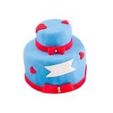 Geïsoleerdew cake Stock Fotografie