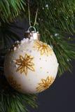 Geïsoleerdew de spar van Kerstmis Royalty-vrije Stock Foto's