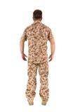 Geïsoleerdex militair Stock Afbeelding