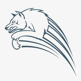 Geïsoleerdez wolfssprong vector illustratie