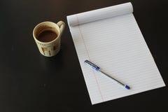 Geïsoleerdg notaboek Stock Foto