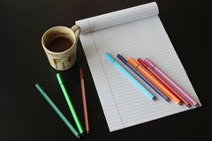 Geïsoleerdg notaboek Stock Foto's