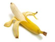 Geïsoleerdg palled banaan Stock Foto's