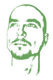 Geïsoleerdh dromerig gezicht stock afbeelding