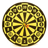 Geïsoleerdi Dartboard royalty-vrije stock foto's