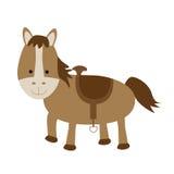 Geïsoleerdi paard Royalty-vrije Stock Foto