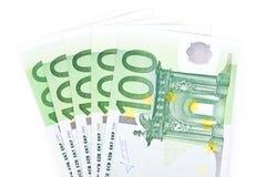 Geïsoleerdi vijf honderd euro Royalty-vrije Stock Fotografie