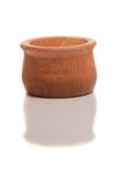 Geïsoleerdj houten suiker-bassin Stock Afbeelding