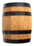 geïsoleerdk houten vat royalty-vrije stock afbeelding