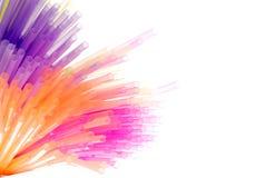 Geïsoleerdk kleurrijk stro royalty-vrije stock foto's