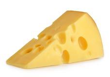 Geïsoleerdk stuk van kaas stock afbeelding