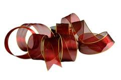 Geïsoleerdl rood lint Stock Afbeelding