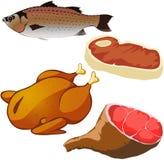 Geïsoleerdl vlees Stock Foto