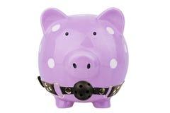 Geïsoleerdm spaarvarken 3d illustratie op witte achtergrond Stock Fotografie
