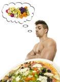 Het denken in zijn dieet. Stock Fotografie