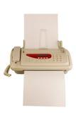 geïsoleerdn faxapparaat Stock Fotografie