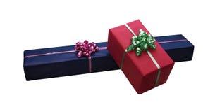Geïsoleerd giftboxes Stock Foto's