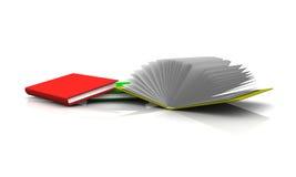 Geïsoleerdn kleurrijk boek. Royalty-vrije Stock Afbeelding