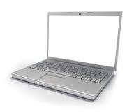 Geïsoleerdn Laptop [het Knippen Weg] Royalty-vrije Stock Afbeeldingen