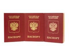 Geïsoleerdn paspoort Royalty-vrije Stock Foto's