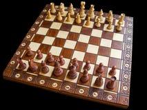 Geïsoleerdn schaakbord Royalty-vrije Stock Foto's