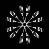 Caleidoscopische vork Royalty-vrije Stock Afbeelding